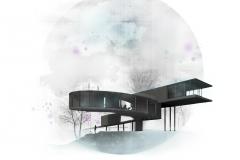 projekt domu w lesie forest house