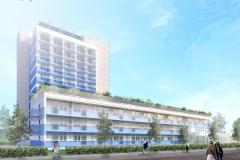 projekt aparthotelu nad morzem