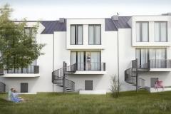 projekt osiedle domów szeregowych kraków brzesko