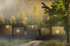 projekt pensjonatu hotelu w lesie architekt