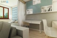 projekt wnętrz mieszkania Kraków ul. Bartla